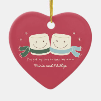 Marshmallow Love Christmas Tree Ornament