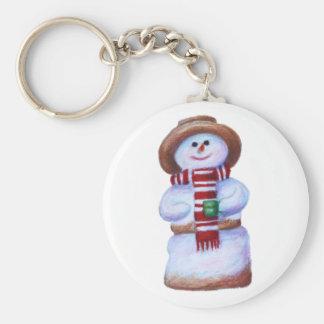 Marshmallow Snowman Keychain