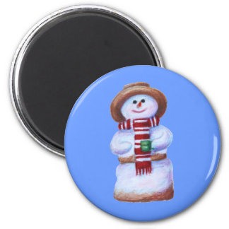 Marshmallow Snowman Magnet