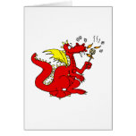 Marshmallow Toasting Dragon Greeting Cards