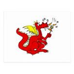 Marshmallow Toasting Dragon Postcards