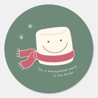 Marshmallow World Christmas Stickers