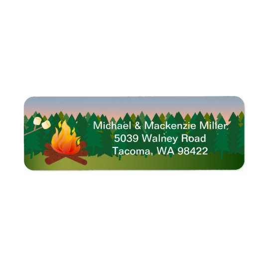 Marshmallows Campfire Return Address Label