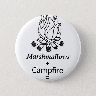 Marshmallows + Campfire = Yay! 6 Cm Round Badge