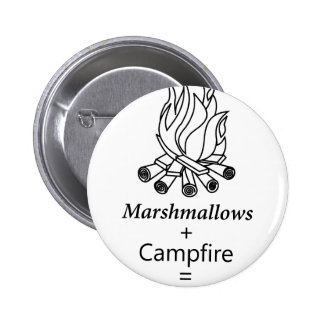 Marshmallows + Campfire = Yay! 6 Cm Round Badge
