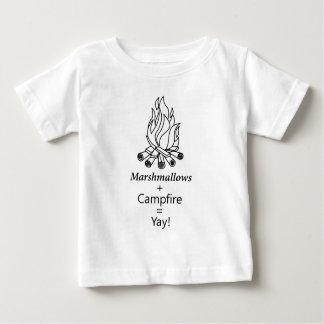 Marshmallows + Campfire = Yay! Baby T-Shirt