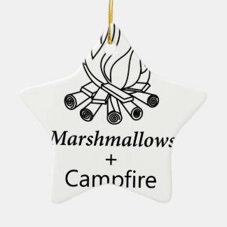 Marshmallows + Campfire = Yay! Ceramic Star Decoration