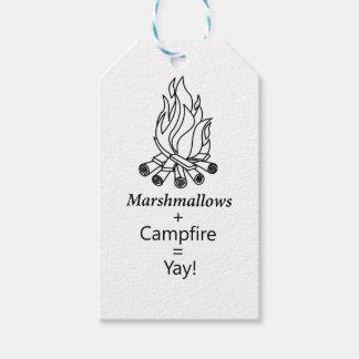 Marshmallows + Campfire = Yay! Gift Tags