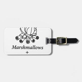 Marshmallows + Campfire = Yay! Luggage Tag