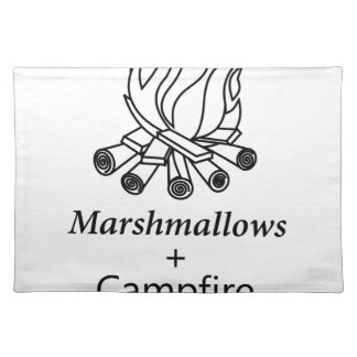 Marshmallows + Campfire = Yay! Placemat
