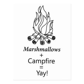 Marshmallows + Campfire = Yay! Postcard