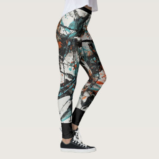 Marta Abstract Painting 4 Leggings