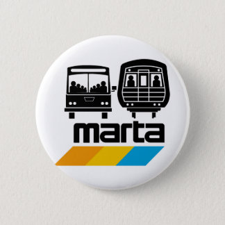 MARTA Bus and Train 6 Cm Round Badge