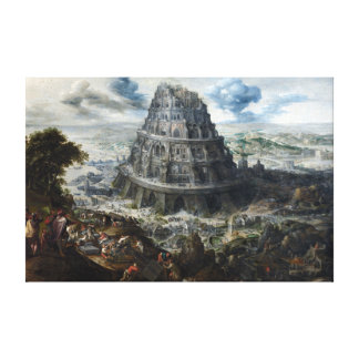 Marten van Valckenborch The Tower of Babel Canvas Print