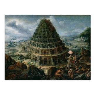 Marten van Valckenborch - The Tower of Babel Postcard