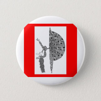 martha graham dancing 6 cm round badge