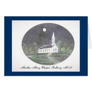 Martha-Mary Chapel, Sudbury MA Card