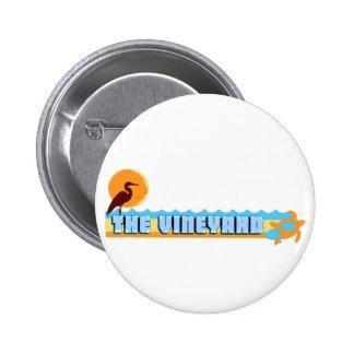 Martha s Vineyard Beach Design Pinback Buttons