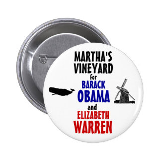 Martha s Vineyard for Obama and Warren 2012 Buttons