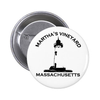 Martha s Vineyard Lighthouse Design Pinback Button