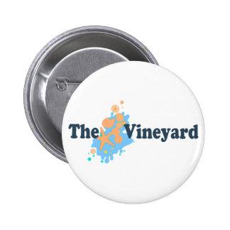 Martha s Vineyard Seashells Design Button