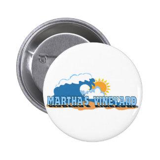 Martha s Vineyard Waves Design Pin