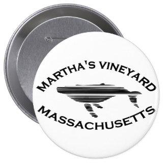 Martha s Vineyard Whale Design Button