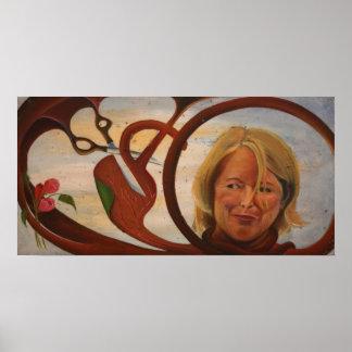 Martha Stewart Oil Painting Print