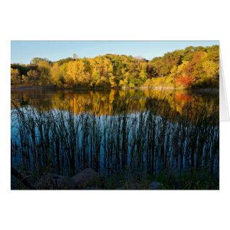 Marthaler Park Autumn Reflections Card