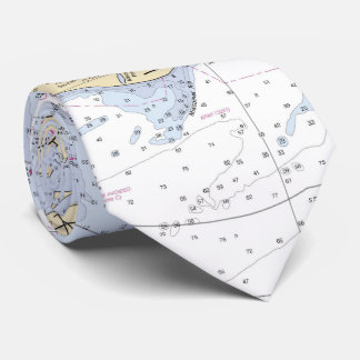 Martha's Vineyard Authentic Nautical Chart Tie