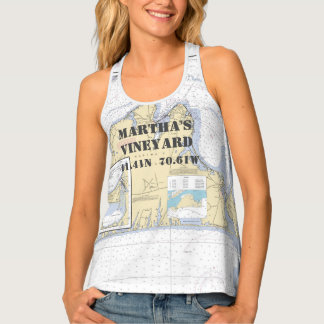 Martha's Vineyard Latitude Longitude Boater's Singlet