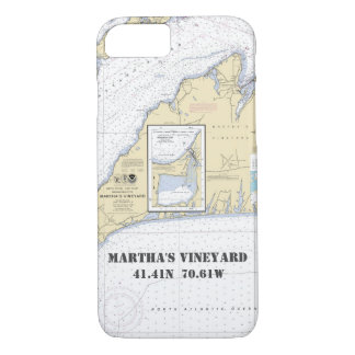 Martha's Vineyard Latitude Longitude Nautical iPhone 8/7 Case