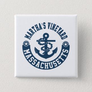Martha's Vineyard Massachusetts 15 Cm Square Badge