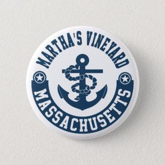Martha's Vineyard Massachusetts 6 Cm Round Badge