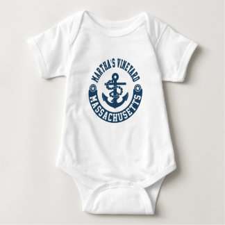 Martha's Vineyard Massachusetts Baby Bodysuit