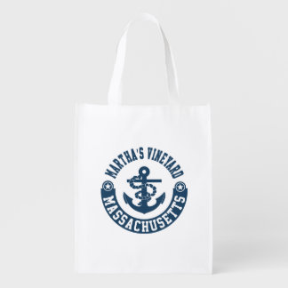 Martha's Vineyard Massachusetts Reusable Grocery Bag