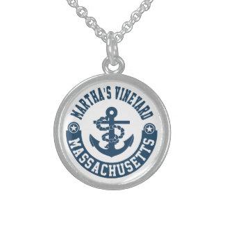 Martha's Vineyard Massachusetts Sterling Silver Necklace