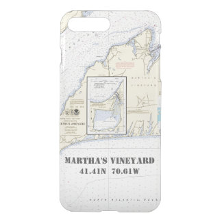 Martha's Vineyard Nautical Latitude Longitude iPhone 7 Plus Case