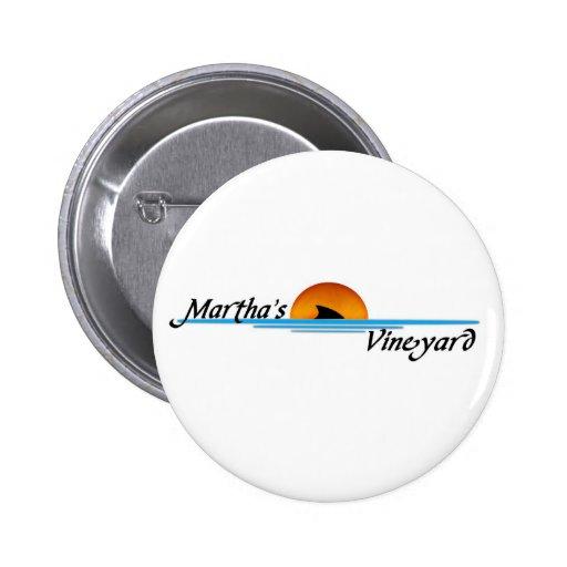 Marthas Vineyard Shark Pinback Button