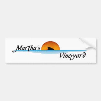 Marthas Vineyard Shark Bumper Sticker