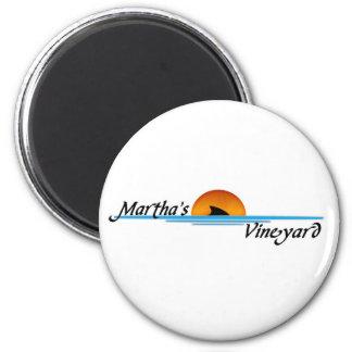 Marthas Vineyard Shark 6 Cm Round Magnet
