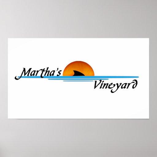 Marthas Vineyard Shark Print