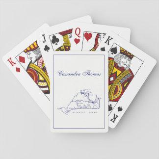 Martha's Vineyard Vintage Map #1 Navy Blue Playing Cards