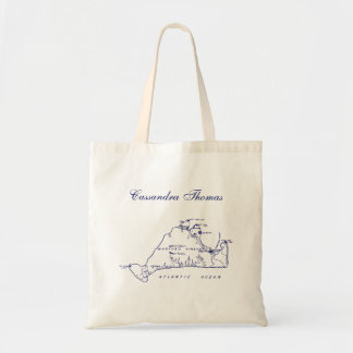 Martha's Vineyard Vintage Map #1 Navy Blue Tote Bag
