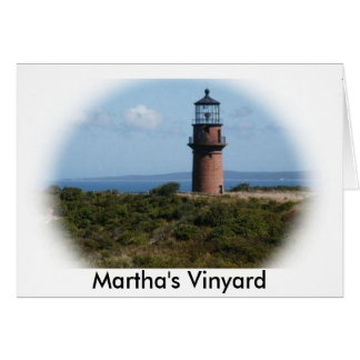 Martha's Vinyard Light House Card