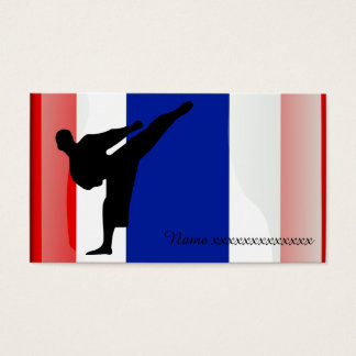 Martial art Thai flag Business Card