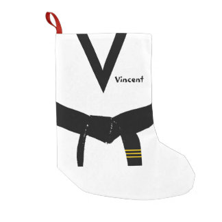 Martial Arts 3rd Degree Black Belt Small Christmas Stocking