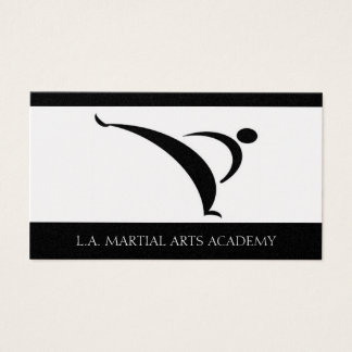 Martial Arts Academy Karate Taekwondo Kung Fu Business Card