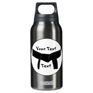Martial Arts Basic Black Belt Insulated Water Bottle