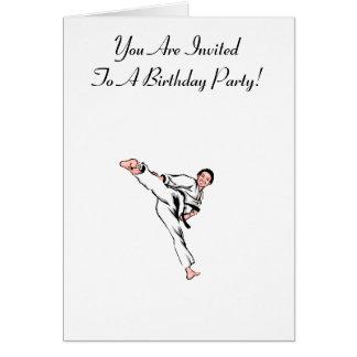 Martial Arts Birthday Card
